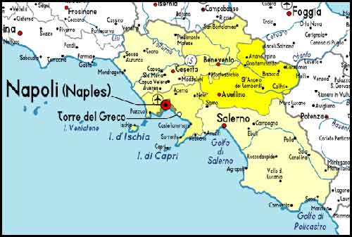 Pompeii World Map.Pompeii Area Attractions